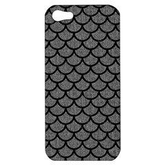 Scales1 Black Marble & Gray Denim Apple Iphone 5 Hardshell Case by trendistuff