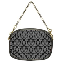 Scales2 Black Marble & Gray Denim Chain Purses (two Sides)  by trendistuff