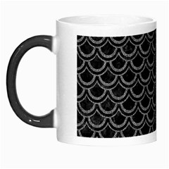 Scales2 Black Marble & Gray Denim (r) Morph Mugs by trendistuff