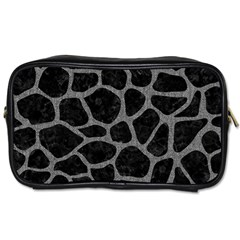 Skin1 Black Marble & Gray Denim Toiletries Bags by trendistuff
