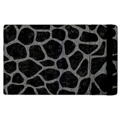 Skin1 Black Marble & Gray Denim Apple Ipad 2 Flip Case by trendistuff