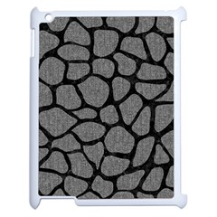 Skin1 Black Marble & Gray Denim (r) Apple Ipad 2 Case (white) by trendistuff