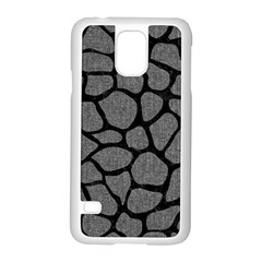 Skin1 Black Marble & Gray Denim (r) Samsung Galaxy S5 Case (white) by trendistuff