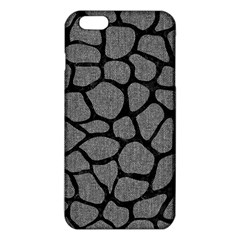 Skin1 Black Marble & Gray Denim (r) Iphone 6 Plus/6s Plus Tpu Case