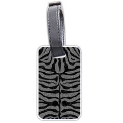 Skin2 Black Marble & Gray Denim Luggage Tags (one Side)  by trendistuff