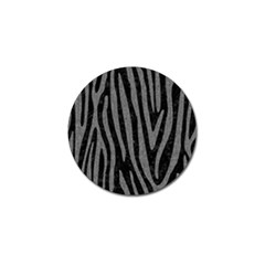 Skin4 Black Marble & Gray Denim Golf Ball Marker by trendistuff