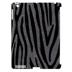 Skin4 Black Marble & Gray Denim (r) Apple Ipad 3/4 Hardshell Case (compatible With Smart Cover) by trendistuff