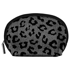 Skin5 Black Marble & Gray Denim (r) Accessory Pouches (large)  by trendistuff
