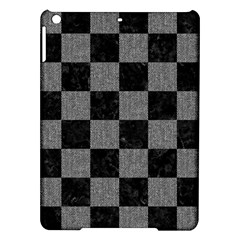 Square1 Black Marble & Gray Denim Ipad Air Hardshell Cases by trendistuff