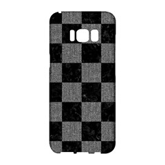 Square1 Black Marble & Gray Denim Samsung Galaxy S8 Hardshell Case  by trendistuff