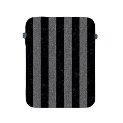 Stripes1 Black Marble & Gray Denim Apple Ipad 2/3/4 Protective Soft Cases by trendistuff