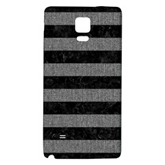 Stripes2 Black Marble & Gray Denim Galaxy Note 4 Back Case by trendistuff