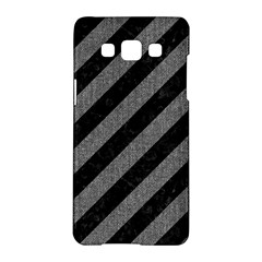 Stripes3 Black Marble & Gray Denim (r) Samsung Galaxy A5 Hardshell Case  by trendistuff