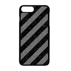 Stripes3 Black Marble & Gray Denim (r) Apple Iphone 8 Plus Seamless Case (black) by trendistuff