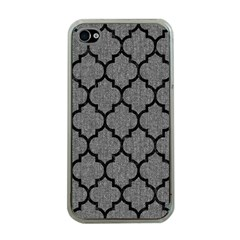 Tile1 Black Marble & Gray Denim Apple Iphone 4 Case (clear) by trendistuff