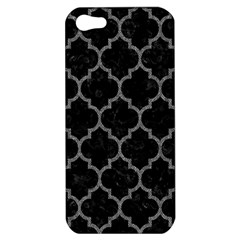 Tile1 Black Marble & Gray Denim (r) Apple Iphone 5 Hardshell Case by trendistuff
