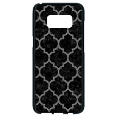 Tile1 Black Marble & Gray Denim (r) Samsung Galaxy S8 Black Seamless Case by trendistuff