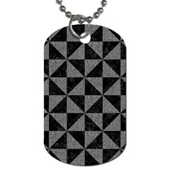 Triangle1 Black Marble & Gray Denim Dog Tag (two Sides) by trendistuff