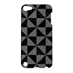 Triangle1 Black Marble & Gray Denim Apple Ipod Touch 5 Hardshell Case by trendistuff