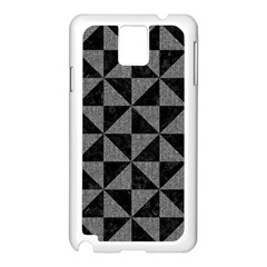 Triangle1 Black Marble & Gray Denim Samsung Galaxy Note 3 N9005 Case (white) by trendistuff