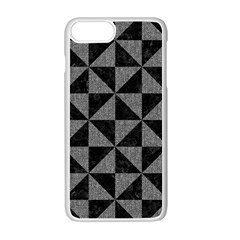 Triangle1 Black Marble & Gray Denim Apple Iphone 7 Plus Seamless Case (white)
