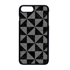Triangle1 Black Marble & Gray Denim Apple Iphone 8 Plus Seamless Case (black) by trendistuff