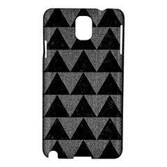Triangle2 Black Marble & Gray Denim Samsung Galaxy Note 3 N9005 Hardshell Case by trendistuff