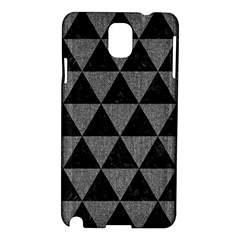 Triangle3 Black Marble & Gray Denim Samsung Galaxy Note 3 N9005 Hardshell Case by trendistuff