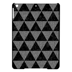 Triangle3 Black Marble & Gray Denim Ipad Air Hardshell Cases by trendistuff