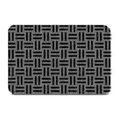 Woven1 Black Marble & Gray Denim Plate Mats by trendistuff