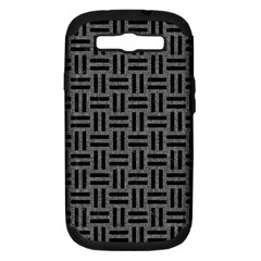 Woven1 Black Marble & Gray Denim Samsung Galaxy S Iii Hardshell Case (pc+silicone) by trendistuff
