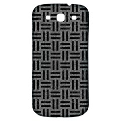 Woven1 Black Marble & Gray Denim Samsung Galaxy S3 S Iii Classic Hardshell Back Case by trendistuff