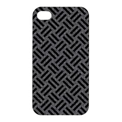 Woven2 Black Marble & Gray Denim Apple Iphone 4/4s Hardshell Case by trendistuff