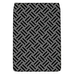 Woven2 Black Marble & Gray Denim Flap Covers (l)  by trendistuff