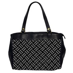 Woven2 Black Marble & Gray Denim (r) Office Handbags (2 Sides)  by trendistuff