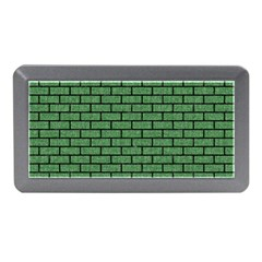 Brick1 Black Marble & Green Denim Memory Card Reader (mini) by trendistuff