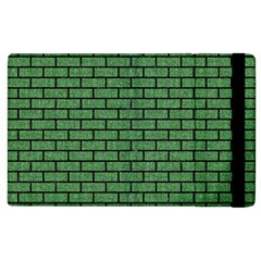 Brick1 Black Marble & Green Denim Apple Ipad 3/4 Flip Case by trendistuff