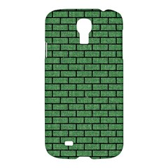 Brick1 Black Marble & Green Denim Samsung Galaxy S4 I9500/i9505 Hardshell Case by trendistuff