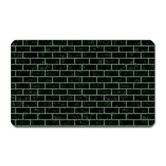 Brick1 Black Marble & Green Denim (r) Magnet (rectangular) by trendistuff
