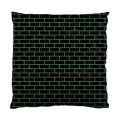 Brick1 Black Marble & Green Denim (r) Standard Cushion Case (one Side) by trendistuff