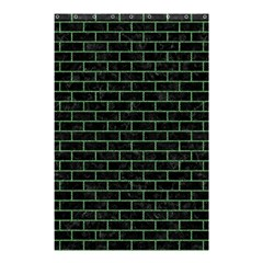 Brick1 Black Marble & Green Denim (r) Shower Curtain 48  X 72  (small)  by trendistuff