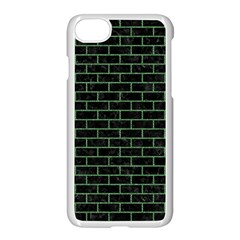 Brick1 Black Marble & Green Denim (r) Apple Iphone 7 Seamless Case (white) by trendistuff