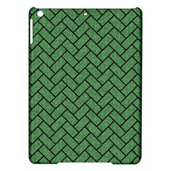 Brick2 Black Marble & Green Denim Ipad Air Hardshell Cases by trendistuff