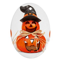 Funny Halloween Pumpkins Ornament (oval) by gothicandhalloweenstore