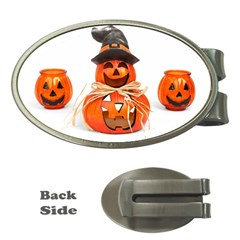 Funny Halloween Pumpkins Money Clips (oval)  by gothicandhalloweenstore