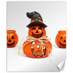 Funny Halloween Pumpkins Canvas 8  X 10  by gothicandhalloweenstore