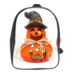 Funny Halloween Pumpkins School Bag (large) by gothicandhalloweenstore
