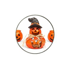 Funny Halloween Pumpkins Hat Clip Ball Marker by gothicandhalloweenstore