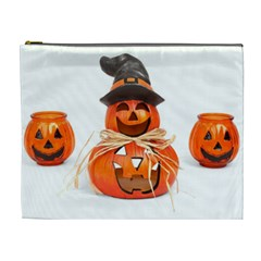 Funny Halloween Pumpkins Cosmetic Bag (xl) by gothicandhalloweenstore