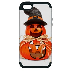 Funny Halloween Pumpkins Apple Iphone 5 Hardshell Case (pc+silicone) by gothicandhalloweenstore